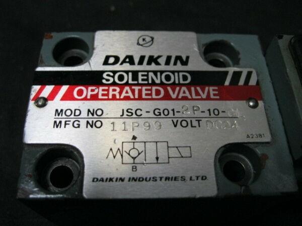 DAIKIN JSC-G01-2P-10-CL SOLENOID VALVE, SOL 24VDC