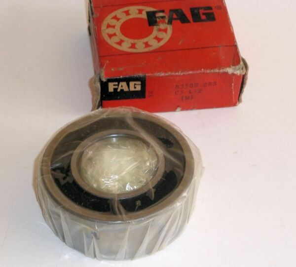 FAG S3508-2RS Sealed Both Sides Deep Groove Ball Bearing 40mm x 80mm x 30.2mm