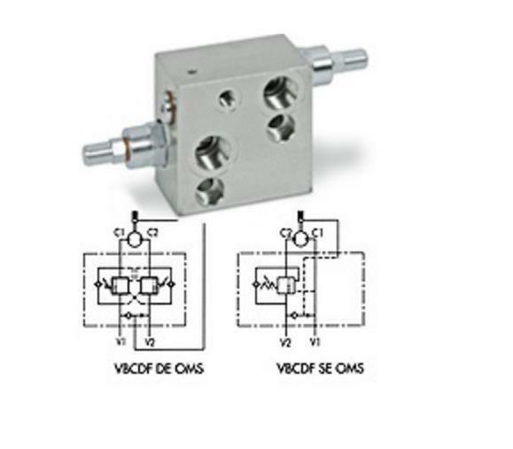Flowfit Overcentre Valve Flangeable On Danfoss Motors OMS V0416/SF Free UK & EU