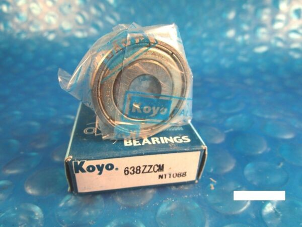 KOYO 638 ZZ Single Row Radial Bearing (see SKF 2Z, NTN, FAG 2RZ , NSK )