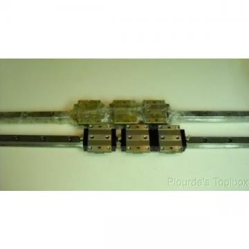 Lot (6) Bosch Rexroth 1651-71X-10 Star Linear Motion Guide Bearings & (2) Rails